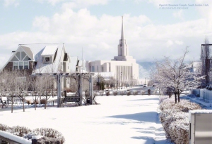 Oquirrh Mountain Temple in South Jordan, Utah. - Photographer: Rafael Escalios.